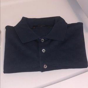 mens louis vuitton polo shirt blue damier m